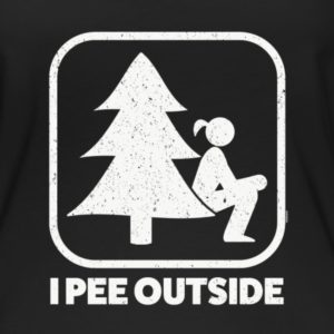 I Pee Outside Girl Sign Shirts | TeezCo™