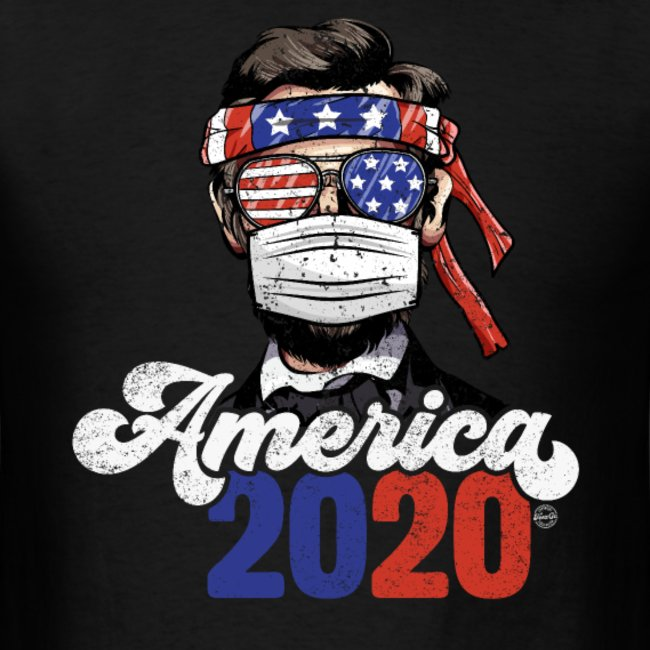 4th of july 2020 america president abraham lincoln w mask 1