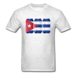 Patriotic Beer Cans Cuba w Cuban Flag
