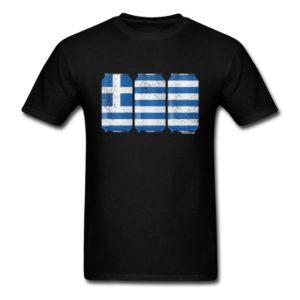 Patriotic Beer Cans Greece w Greek Flag