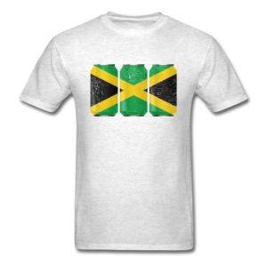 Patriotic Beer Cans Jamaica w Jamaican Flag