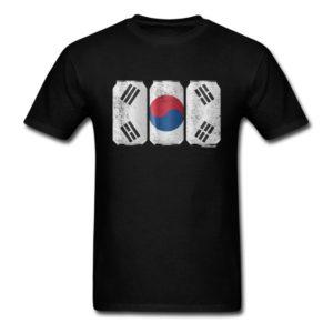 Patriotic Beer Cans South Korea w Korean Flag