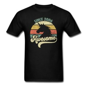 awesome since 2006 retro unicorn birthday gift shirts for men women youth and kids boys and girls
