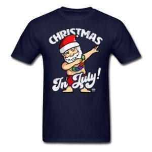 christmas in july funny santa claus dabbing graphic summer clothing for men women boys girls youth and kids 1