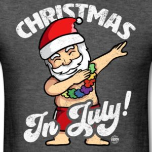 christmas in july funny santa claus dabbing graphic summer clothing for men women boys girls youth and kids 3