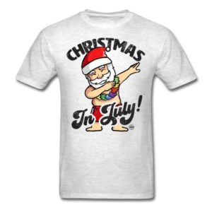 christmas in july funny santa claus dabbing graphic summer clothing for men women boys girls youth and kids