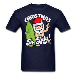 christmas in july funny santa claus graphic summer clothing for men women boys girls youth and kids 1