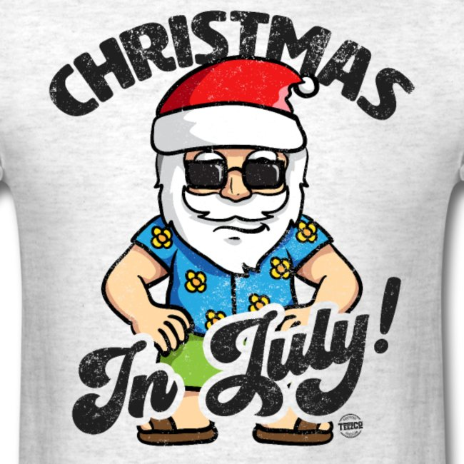 christmas in july funny santa claus graphic summer clothing for men women boys girls youth and kids 11