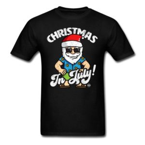 christmas in july funny santa claus graphic summer clothing for men women boys girls youth and kids 2