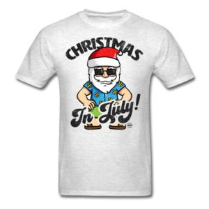 christmas in july funny santa claus graphic summer clothing for men women boys girls youth and kids 3