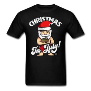 christmas in july funny santa claus graphic summer clothing for men women boys girls youth and kids 4
