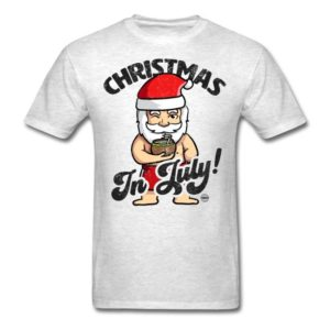 christmas in july funny santa claus graphic summer clothing for men women boys girls youth and kids 5