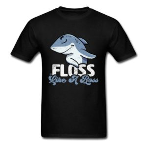 floss like a boss cool shark shirts for men women and kids
