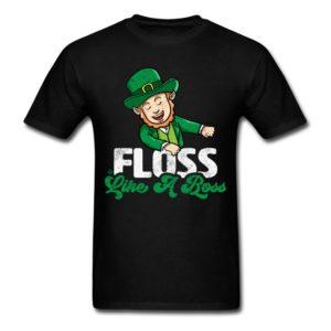 floss like a boss irish leprechaun