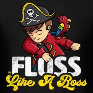 floss like a boss pirate with parrot 1