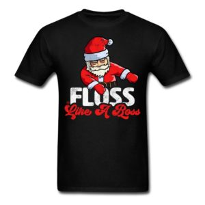 funny christmas floss like a boss santa floss santa shirts 1