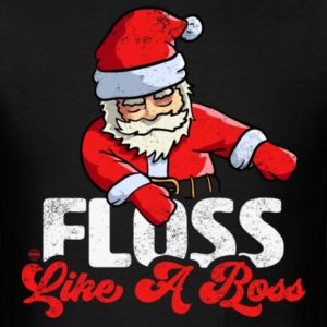 funny christmas floss like a boss santa floss santa shirts 2