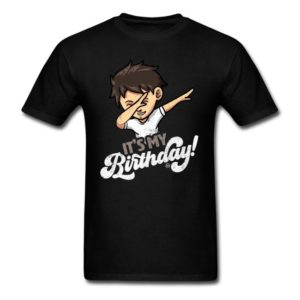 its my birthday cool dabbing boy shirts for men women and kids