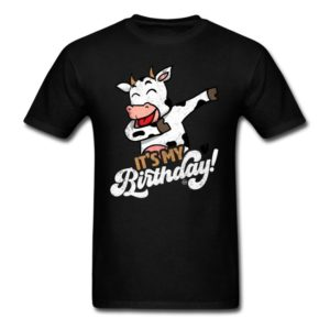 its my birthday cool dabbing cow shirts for men women and kids