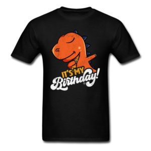 its my birthday cool dabbing dinosaur shirts for men women and kids