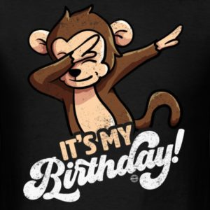 its my birthday cool dabbing monkey shirts for men women and kids