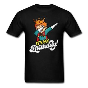 its my birthday cool dabbing prince shirts for men women and kids