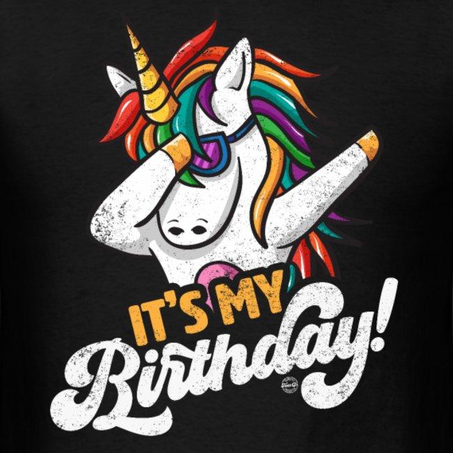 its my birthday cool dabbing unicorn shirts for men women and kids 1