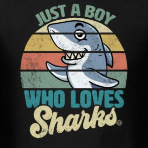 just a boy who loves sharks funny shark gift shirts for boys