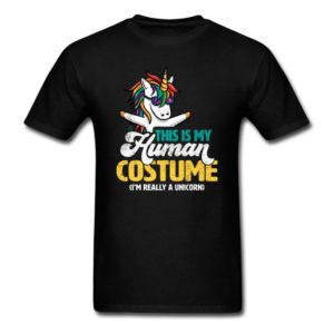 this is my human costume im really a unicorn shirts for men women and kids