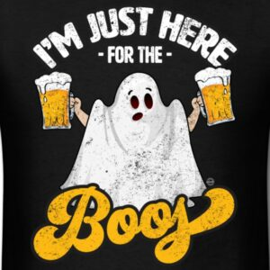 im just here for the boos funny halloween ghost w beer shirts and gifts for men and for women cool halloween drinking shirts for adults