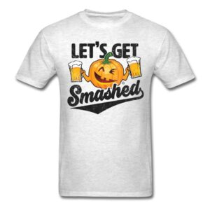 lets get smashed funny pumpkin beer halloween shirts and gifts for men and women