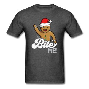bite me funny gingerbread man christmas cookie shirts gifts