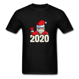 christmas santa claus with mask social distancing funny shirt and gifts for men women youth and kids boys and girls