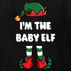 im the baby elf matching family group funny christmas shirts