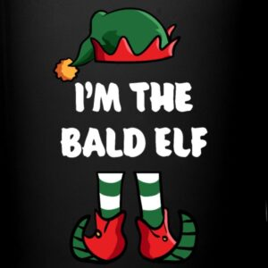 im the bald elf matching family group funny christmas shirts