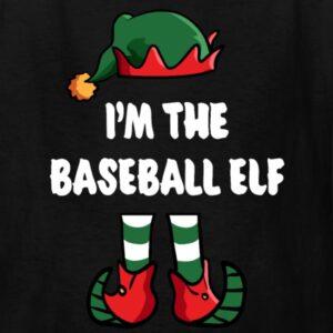 im the baseball elf matching family group funny christmas shirts