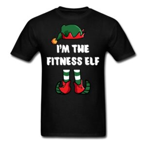 im the fitness elf matching family group funny christmas shirts
