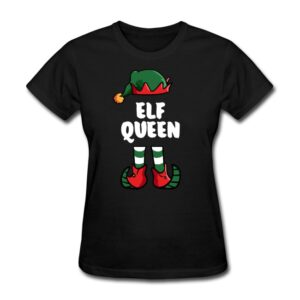 im the queen elf matching family group funny christmas shirts
