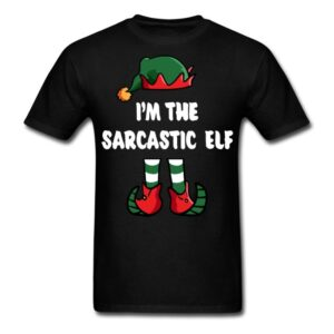 im the sarcastic elf matching family group funny christmas shirts