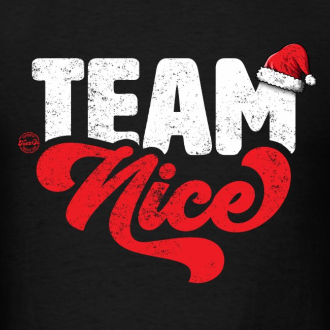 team nice funny couple matching outfit w santa hat team nnice naughty christmas party shirts and gifts for men women youth and kids