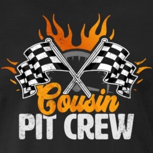 cousin pit crew race car birthday party racing family matching shirts and gifts birthday celebration decoration outfit gift for pit crew family race