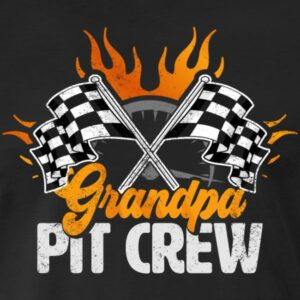 grandpa pit crew race car birthday party racing family matching shirts and gifts birthday celebration decoration outfit gift for pit crew family rac