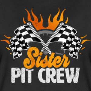 sister pit crew race car birthday party racing family matching shirts and gifts birthday celebration decoration outfit gift for pit crew family race