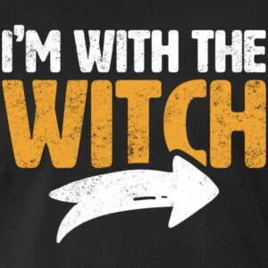 im with the witch arrow funny matching couple halloween costumes shirts and gifts for men women youth and kids boys and girls